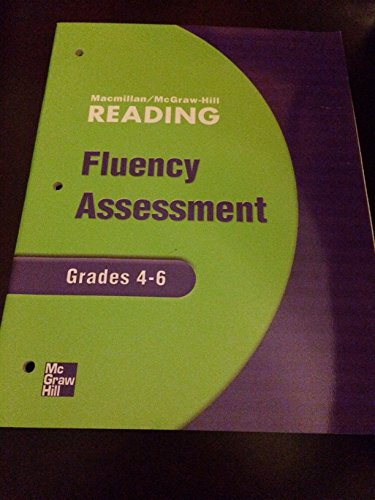 9780021893683: Macmillan/McGraw Hill Reading (Fluency Assessment, Grades 4-6)