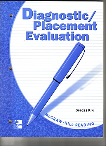9780021894468: Diagnostic/Placement Evaluation, Grades K-6 (McGraw-Hill Reading)
