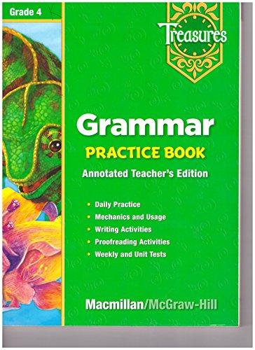 9780021936083: Grammar Practice Book Teacher's Annotated Edition (Treasures Grade 4)
