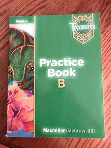 9780021936243: Treasures: Practice Book B, Grade 4