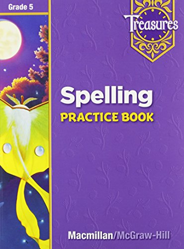 9780021936380: Treasures Spelling Practice Book Grade 5