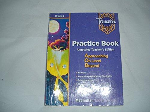 9780021939077: Treasures: A Reading/Language Arts Program, Grade 5, Practice Book Blackline Masters: Teacher's Annotated Edition