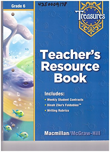 9780021939176: Teacher's Resource Book Grade 6 (Treasures)