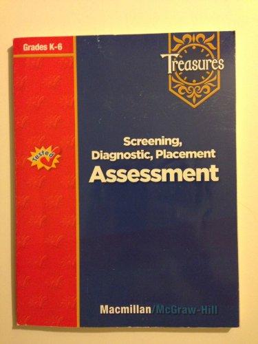 9780021939282: Treasures, Screening, Diagnostic, Placement: Assessment
