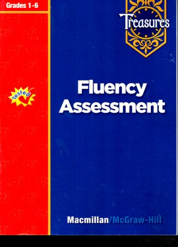 9780021939442: Treasures Fluency Assessment (Grades 1-6)