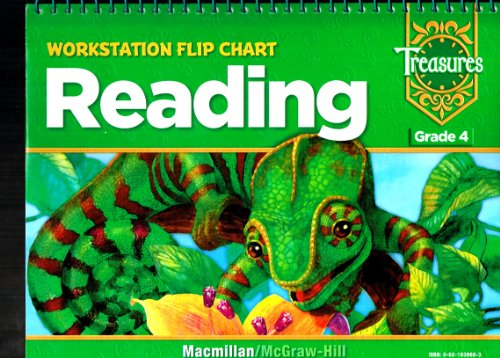 9780021939688: Treasures Workstation Flip Chart Reading Grade 4