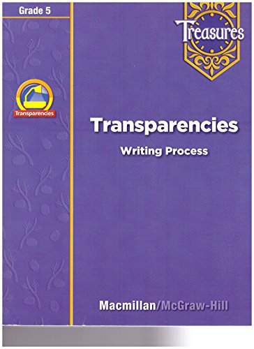 9780021940318: Treasures Transparencies Writing Process Grade 5