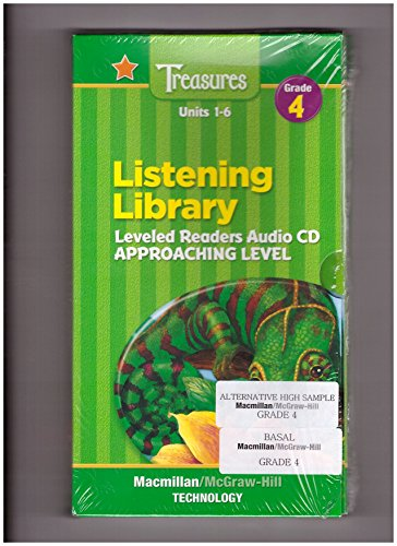 9780021943456: Units 1-6 Listening Library Leveled Readers Audio CD Approaching Level (Macmillan McGraw-Hill Treasures : a reading/language arts program. grade 4)