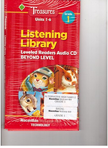 9780021943579: Macmillan McGraw Hill Treasures Grade 1 Listening Library Leveled Readers Audio CD Set Beyond Level Units 1-6