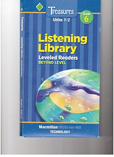 Treasures, Grade 6, Units 1-6 Listening Library, Level Readers Audio CDs-Beyond Level