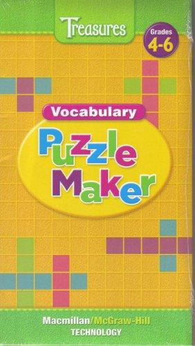 9780021943654: Treasures Vocabulary Puzzle Maker Grades 4-6