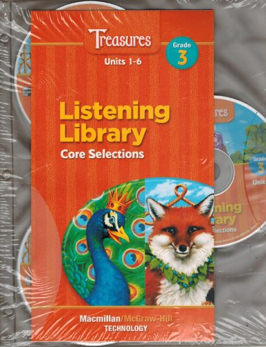 9780021944071: Treasures Listening Library Core Selections Audio CD Grade 3 Units 1-6