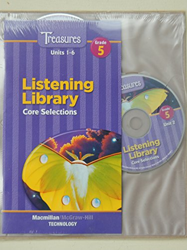 9780021944095: Treasures Listening Library Units 1-6 Core Selections Grade 5 (Units 1-6)