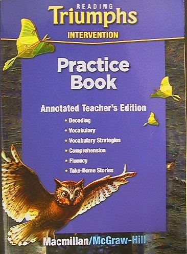9780021947379: Reading Triumphs Intervention (Practice Book Grade 5, Annotated Teacher's Edition)