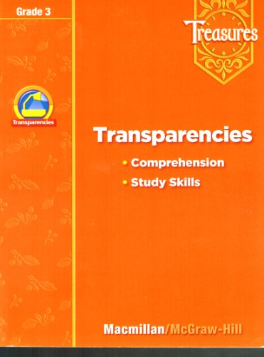 9780021947980: Treasures Grade 3 Transparencies Comprehension Study Skills
