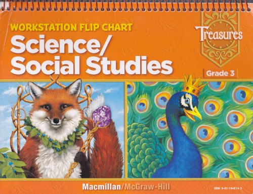 9780021948147: Treasures Workstation Flip Chart: Science/Social Studies (Grade 3) [2008]