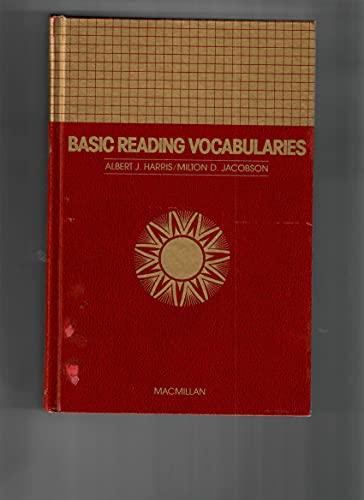 9780021948703: Basic Reading Vocabularies