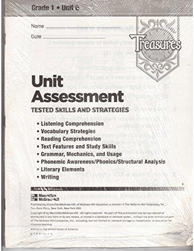 9780021951895: Treasures: Unit Assessment: Grade 1: Unit 6: 10 Pack