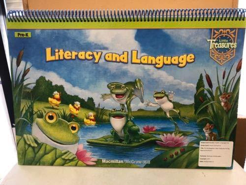 9780021976706: Pre-K Literacy and Language Flip Chart (Little Treasures)