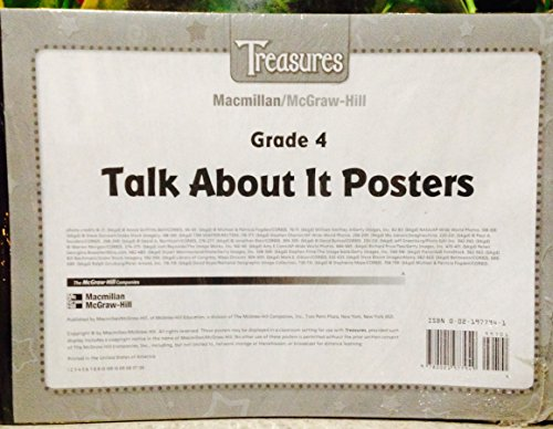 9780021977949: Macmillan McGraw Hill Treasures Grade 4 Talk About It Posters Set