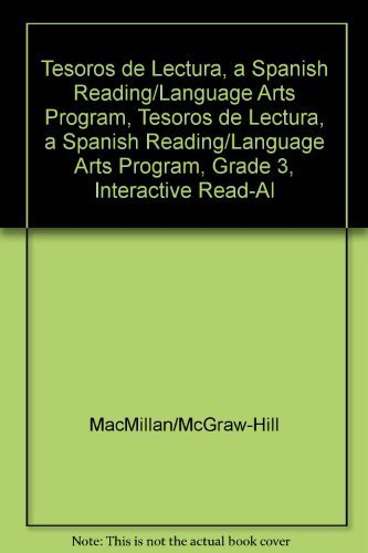 9780021999576: Tesoros de Lectura, a Spanish Reading/Language Arts Program, Grade 3, Interactive Read-Aloud Anthology