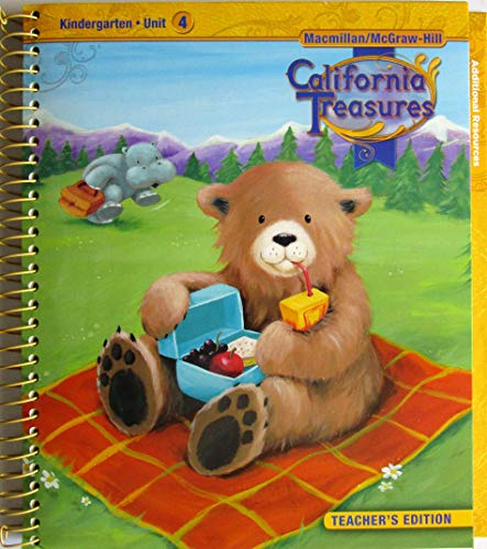 9780022000011: California Treasures Kindergarten, Unit 4, Teacher's Edition