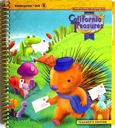 9780022000035: California Treasures Kindergarten Unit 6 Teacher's Edition