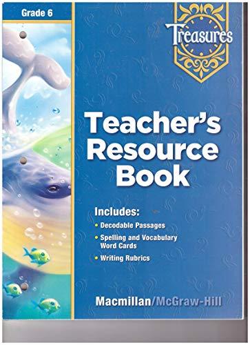 9780022008758: Treasures Teacher's Resource Book Grade 6 (Grade Six)