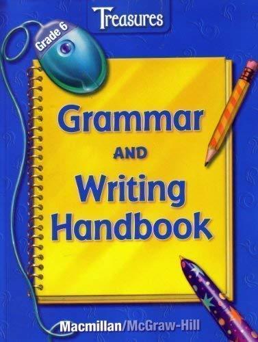 9780022010799: Treasures Grammar and Writing Handbook Grade 6 (Grade Six)