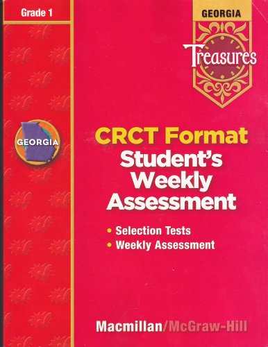 9780022015626: Georgia Treasures: CRCT Format Student's Weekly Assessment, Grade 1 [2008]