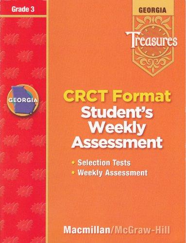 9780022015640: Georgia Treasures: CRCT Format Student's Weekly Assessment, Grade 3 [2008]