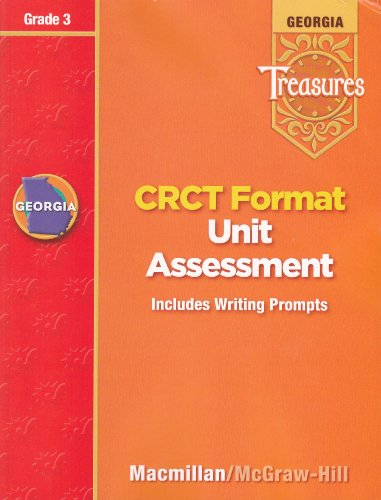 9780022016197: Georgia Treasures: CRCT Fomat Unit Assessment (Includes Writing Prompts), Grade 3 [2008]