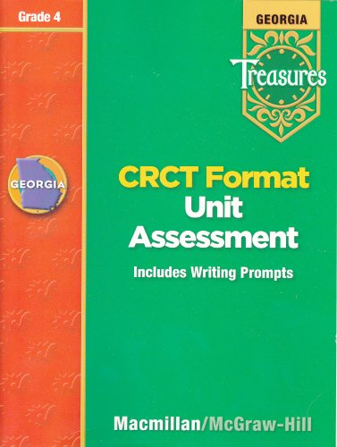 9780022016203: Georgia Treasures: CRCT Fomat Unit Assessment (Includes Writing Prompts), Grade 4 [2008]