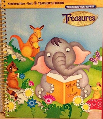 9780022017484: Macmillan/MacGraw Hill reading Treasures Kindergarten Unit 10 Teacher's Manual