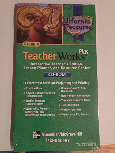 9780022033699: California Treasures Teacher Works Plus (Grade 4)
