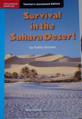 9780022035174: Survival in the Sahara Desert (Grade 4 Teacher's Annotated Edition, Treasures)