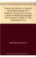 9780022049089: Tesoros de lectura, A Spanish Reading/Language Arts Program, Grade 3, Unit Assessment Student Book