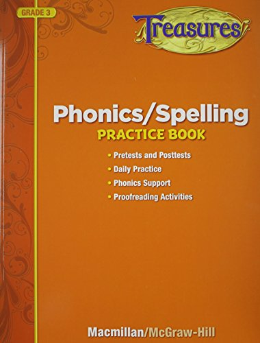 9780022062132: Treasures Phonics/Spelling Practice Book, Grade 3