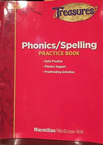 9780022062712: Treasures Phonics/Spelling Practice Book, Grade 1