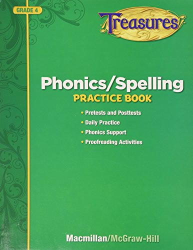 9780022062866: Phonics / Spelling Practice Book Grade 4 (Treasures)