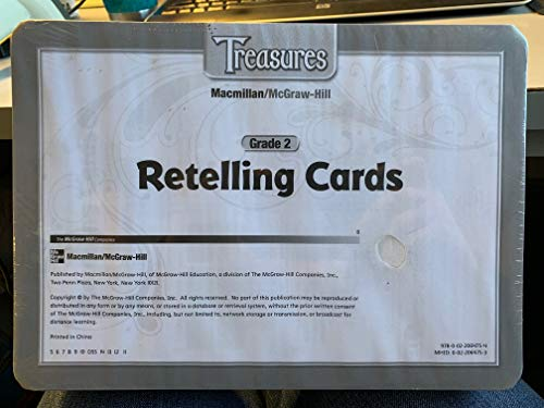 9780022064754: Treasures Retelling Cards, grade 2, very large cards