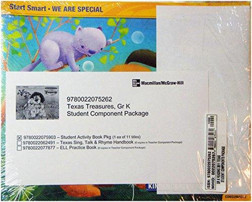9780022075262: TX Treasures Kindergarten Activity Books Units 1-10 plus Start Smart (11 different titles)