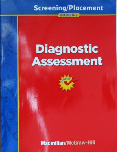 9780022076603: Diagnostic Assessment: Screening / Placement, Grades K-6 (Treasures Reading Program)