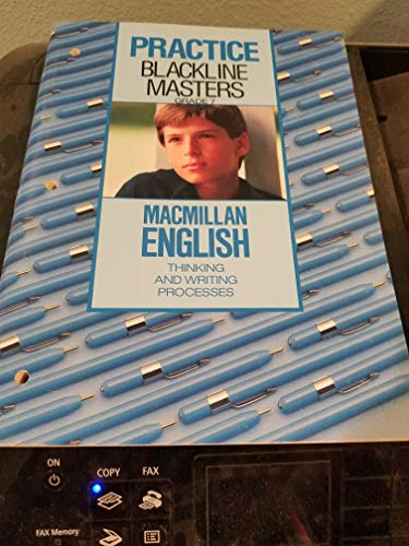 9780022419202: Practice Blackline Masters Grade 7 - Macmillan English Thinking and Writing Processes