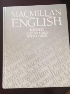 9780022425609: Macmillan English 12: Thinking And Writing Processes