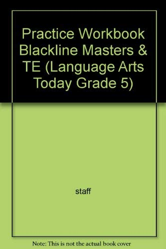 9780022435431: Practice Workbook Blackline Masters & TE (Language Arts Today Grade 5)