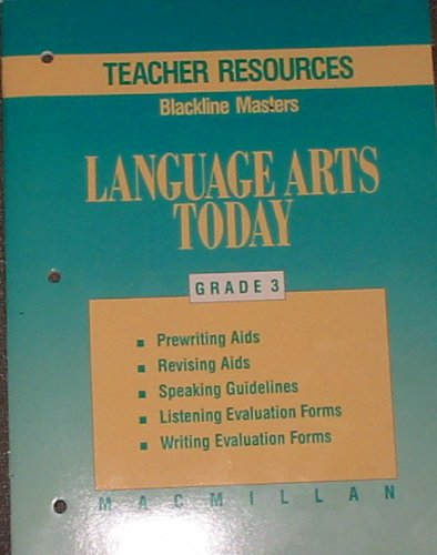 9780022435929: Teacher Resources, Challenge, and Home Activites Blackline Masters Language Arts Today Grade 3 (Language Arts Today)