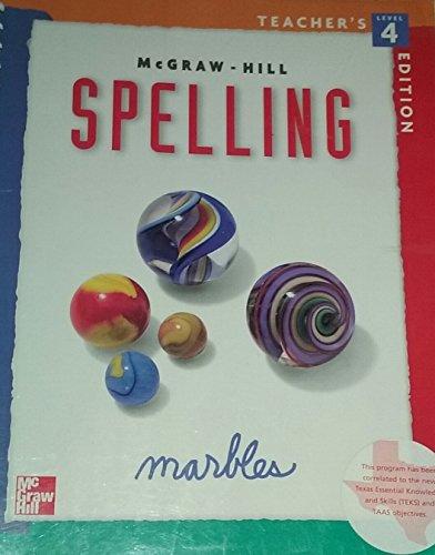 Spelling: Marbles, Level 4 Teacher's Edition: Cook, Dr. Gillian E.