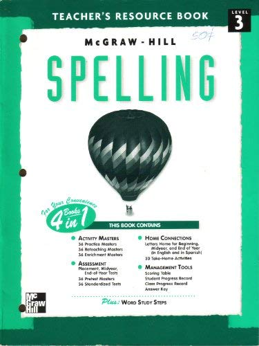 9780022442446: McGraw-Hill spelling: Teacher's resource book