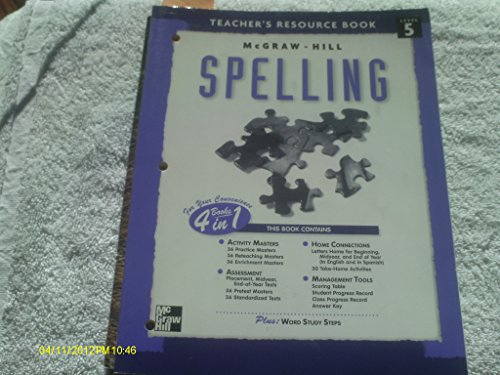 9780022442460: McGraw-Hill spelling: Teacher's resource book